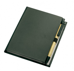 Set cu Notebook, Pix si Post-it notes NERO