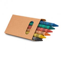 Set de 6 Creioane Colorate din ceara