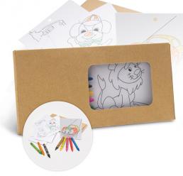 Set de Colorat 8 Creioane din ceara + 8 Carti de colorat