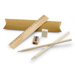 Set cu 2 Creioane Simple, Rigla, Radiera si Ascutitoare