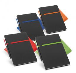 Set cu Notebook A5 (96 de pagini) si Pix