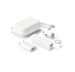 Set cu Power Bank 2000 mAh si Cabluri USB/micro USB