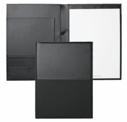 Folder A4 Caption Contrast Black HUGO BOSS