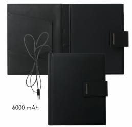 Folder A5 cu Power Bank 6000 mAh New Loop Black HUGO BOSS