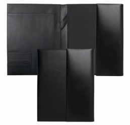 Folder A4 Conference Caption Contrast Black HUGO BOSS