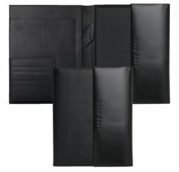 Folder A5 Conference Caption Contrast Black HUGO BOSS