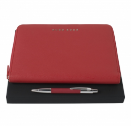 Set cu Pix si Folder A5 Saffiano Red HUGO BOSS