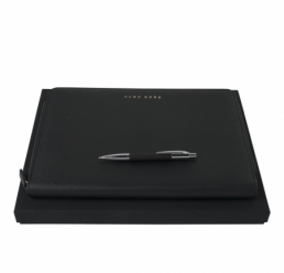 Set cu Pix si Folder A4 Saffiano Black HUGO BOSS