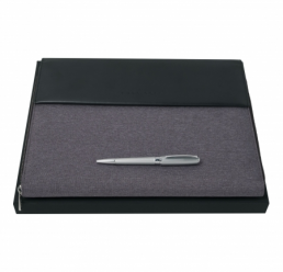Set cu Pix si Folder A4 Advance Fabric Light Grey HUGO BOSS