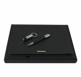 Set cu Folder A4 Fuse, Pix si Memorie USB 16GB Pure Black HUGO BOSS