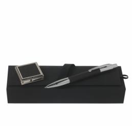 Set cu Pix si Cuier portabil pentru geanta Saffiano Black HUGO BOSS