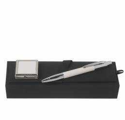 Set cu Pix si Cuier portabil pentru geanta Saffiano Cream HUGO BOSS