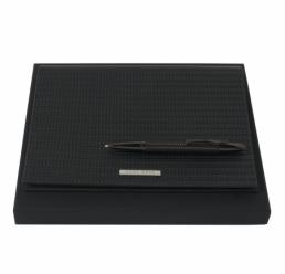 Set cu Folder A5 Fuse si Pix Fuse Black HUGO BOSS