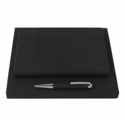 Set cu Notebook A5 Grid si Pix cu Touch Avenir Rubber HUGO BOSS