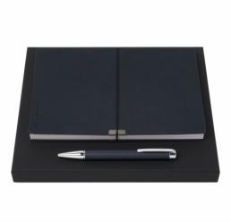 Set cu Pix si Notebook A5 Storyline Dark Blue HUGO BOSS