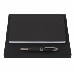 Set cu Pix si Notebook A5 Advance Fabric Dark Grey HUGO BOSS