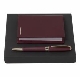 Set cu Pix si Husa pentru Notebook A7 Essential Burgundy HUGO BOSS