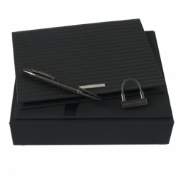 Set cu Pix Fuse Black, Folder A5 si Breloc Fuse HUGO BOSS