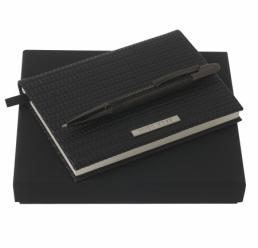 Set cu Notebook A6 Fuse si Pix Fuse Black HUGO BOSS
