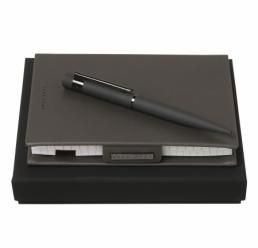 Set cu Notebook A6 si Pix New Loop Dark Grey HUGO BOSS