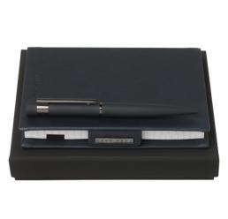 Set cu Notebook A6 si Pix New Loop Dark Blue HUGO BOSS