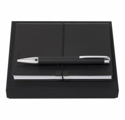 Set cu Pix si Notebook A6 Storyline Black HUGO BOSS