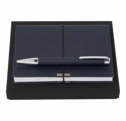 Set cu Pix si Notebook A6 Storyline Dark Blue HUGO BOSS