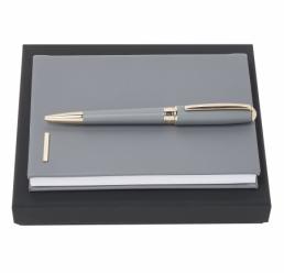Set cu Pix si Notebook A6 Essential Grey HUGO BOSS