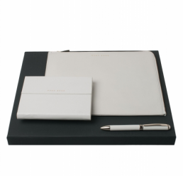 Set cu Folder, Notebook si Pix Verse Shell Grey HUGO BOSS