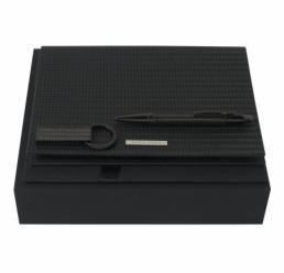 Set cu Folder A5 Fuse, Pix si Memorie USB 16GB Fuse Black HUGO BOSS