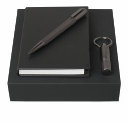 Set cu Notebook A6, Pix si Memorie USB 16 GB Pure Matte Dark Chrome HUGO BOSS
