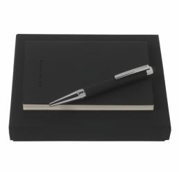 Set cu Notebook A6 Grid Soft si Pix cu Touch Avenir Rubber HUGO BOSS