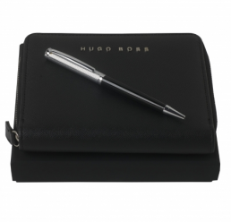 Set cu Pix Sophisticated Diamond si Folder A6 Saffiano Black HUGO BOSS