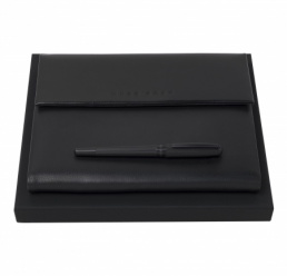 Set cu Roller si Folder A5 Caption Contrast Black HUGO BOSS