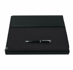 Set cu Pix si Folder A4 Advance Fabric Dark Grey HUGO BOSS