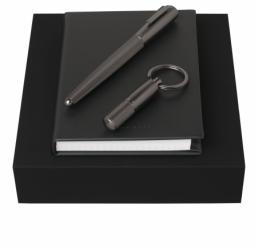 Set cu Notebook A6, Breloc si Roller Pure Matte Dark Chrome HUGO BOSS