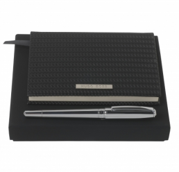 Set cu Notebook A6 Fuse si Roller Essential Chrome HUGO BOSS