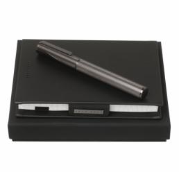 Set cu Notebook A6 New Loop Black si Roller Keystone Grey HUGO BOSS