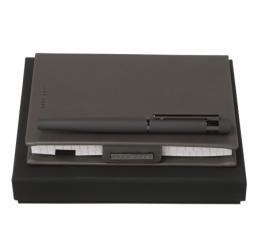 Set cu Notebook A6 si Roller New Loop Dark Grey HUGO BOSS