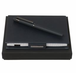 Set cu Notebook A6 si Roller New Loop Dark Blue HUGO BOSS