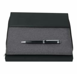 Set cu Pix si Folder A5 Advance Fabric Light Grey HUGO BOSS