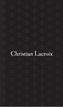Christian Lacroix 2016